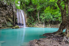 Beautiful deep forest waterfall Royalty Free Stock Photography