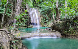Beautiful deep forest waterfall Royalty Free Stock Images