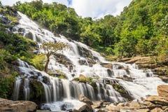 Beautiful deep forest waterfall Mae ya waterfall Royalty Free Stock Photos