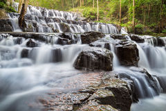 Beautiful deep forest waterfall at Sam lan waterfall National Park Stock Photo