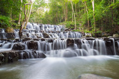 Beautiful deep forest waterfall at Sam lan waterfall National Park Stock Image