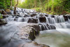 Beautiful deep forest waterfall at Sam lan waterfall National Park Royalty Free Stock Images