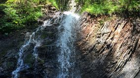 Beautiful deep forest waterfall. royalty free stock photography