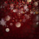 Beautiful deep red winter background. EPS 10 vector. Beautiful deep red winter background with snowflakes with bokeh. And also includes EPS 10 vector Royalty Free Stock Photos