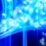 Beautiful defocus lights. Beautiful blue background defocus fires Stock Image