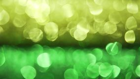 Beautiful defocused background. Yellow and green bokeh, 4k. stock footage