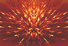 Beautiful defocused festive background in gold and red colors, like a sparks of fire Royalty Free Stock Photos