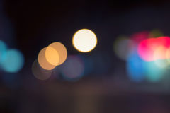 Beautiful defocused lights background on dark Stock Photo
