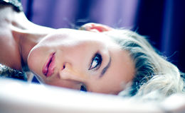 Beautiful delicate blonde woman Stock Photography