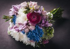 Flowers bouquet. Beautiful and delicate bouquet of flowers for bride Royalty Free Stock Photo