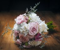 Flowers bouquet. Beautiful and delicate bouquet of flowers for bride Royalty Free Stock Images