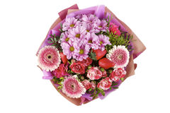 Beautiful, delicate bouquet of flowers on isolated background royalty free stock images