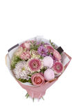 Beautiful, delicate bouquet of flowers on isolated background royalty free stock photography