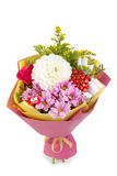 Beautiful, delicate bouquet of flowers on isolated background royalty free stock photo