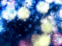 Beautiful delicate xmas snowflakes background Stock Image