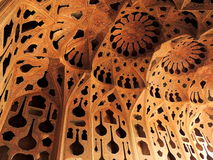 Beautiful dense Islamic architecture design in Isfahan Royalty Free Stock Photography