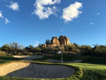 Beautiful desert golf course landscape Royalty Free Stock Photography