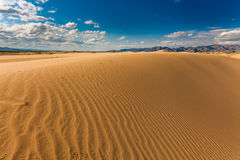 Beautiful desert landscape with sand dunes. Royalty Free Stock Photos