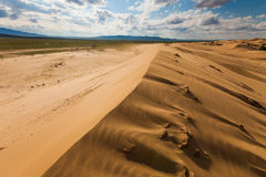 Beautiful desert landscape with sand dunes. Royalty Free Stock Photo