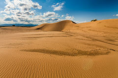 Beautiful desert landscape with sand dunes. Stock Images