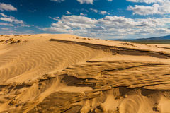 Beautiful desert landscape with sand dunes. Stock Photography