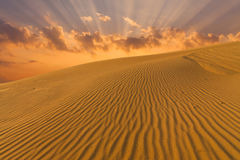Beautiful desert landscape with sand dunes. Mongolia. Beautiful desert landscape with sand dunes. Mongolia Stock Photo
