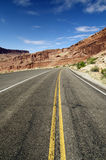 Beautiful Desert Mountain Road Royalty Free Stock Photography