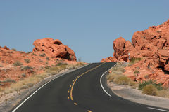 Beautiful desert road Royalty Free Stock Photos