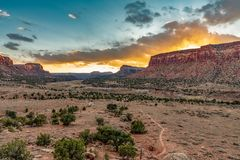Sunset Over Indian Creek, UT royalty free stock images