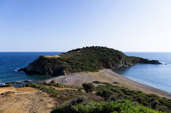 Beautiful deserted beach in Chalkidiki, Greece Royalty Free Stock Photos