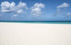 Beautiful Eagle Beach Aruba Island  3. Beautiful and Deserted Eagle Beach Aruba, Southern Caribbean Island  3 Royalty Free Stock Photography