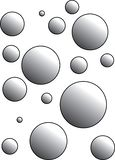 Beautiful design of bubbles with shades royalty free illustration