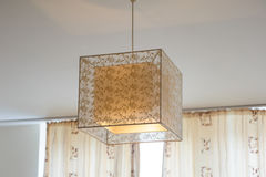 Beautiful design chandelier in the room Stock Images