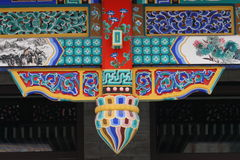 Beautiful design on chinese traditional architectu Royalty Free Stock Photography