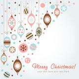 Beautiful design Christmas greeting card Royalty Free Stock Image