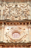 Beautiful design on the facade of Basilica of Bom Jesus church Royalty Free Stock Images