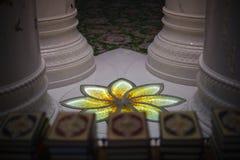 Beautiful design inside Zayed mosque, Abu Dhabi, United Arab Emirates Royalty Free Stock Images