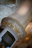 Beautiful design inside Zayed mosque, Abu Dhabi, United Arab Emirates Stock Image