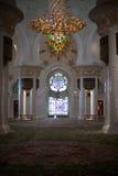 Beautiful design inside Zayed mosque, Abu Dhabi, United Arab Emirates Royalty Free Stock Photos
