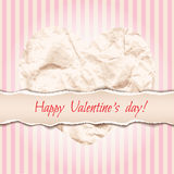 Beautiful design for Valentine's Day greeting card with crumpled Stock Photo