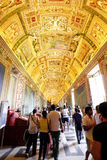 Beautiful designed interior of vatican Museum Stock Photo