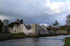 Beautiful Desmond Castle Ruins on River Maigue Royalty Free Stock Image