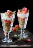 Beautiful dessert with berries Royalty Free Stock Photo