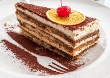 Beautiful dessert with cherry Stock Photo