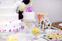 Beautiful desserts, sweets and candy table Stock Images