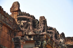 Beautiful detail of Banteay Samre Prasat. Royalty Free Stock Images