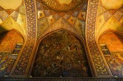 Beautiful detail of Chehel Sotoun Palace , Iran. Royalty Free Stock Photography