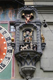 Beautiful detail of Clock Tower in Bern, Switzerland Stock Photos