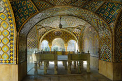 Beautiful detail of the Golestan Palace, Iran. The old, world heritage Golestan Palace was rebuilt to its current form in 1865 Stock Photo