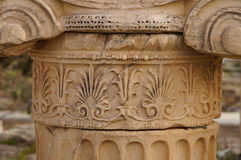Beautiful detail of greek column in Parthenon,Athens. Stock Images